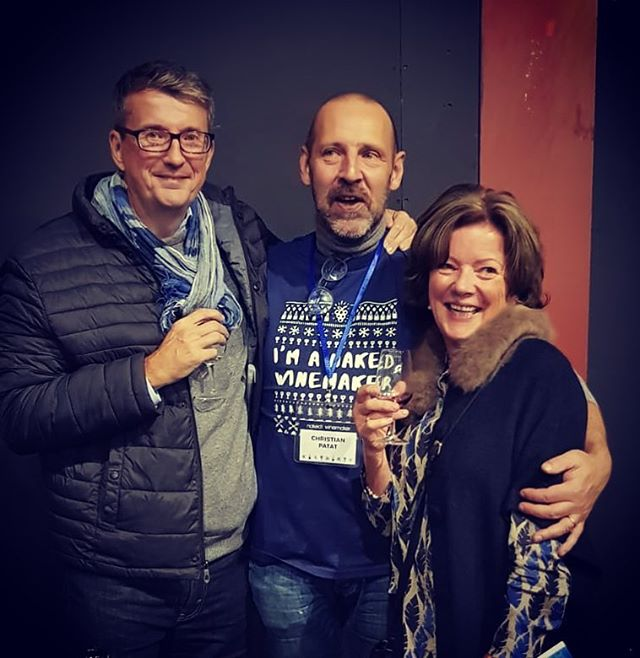 Great time with Christian Patat, the amazing winemaker at #nakedwines wine tasting! #idrinknaked #winetasting #abodegallery @abode.art @nakedwines