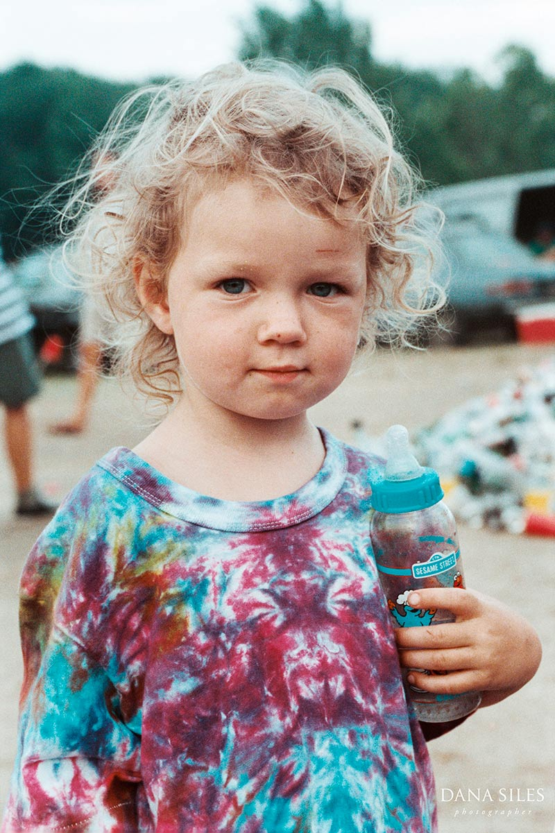 Little hippie at Grateful Dead show