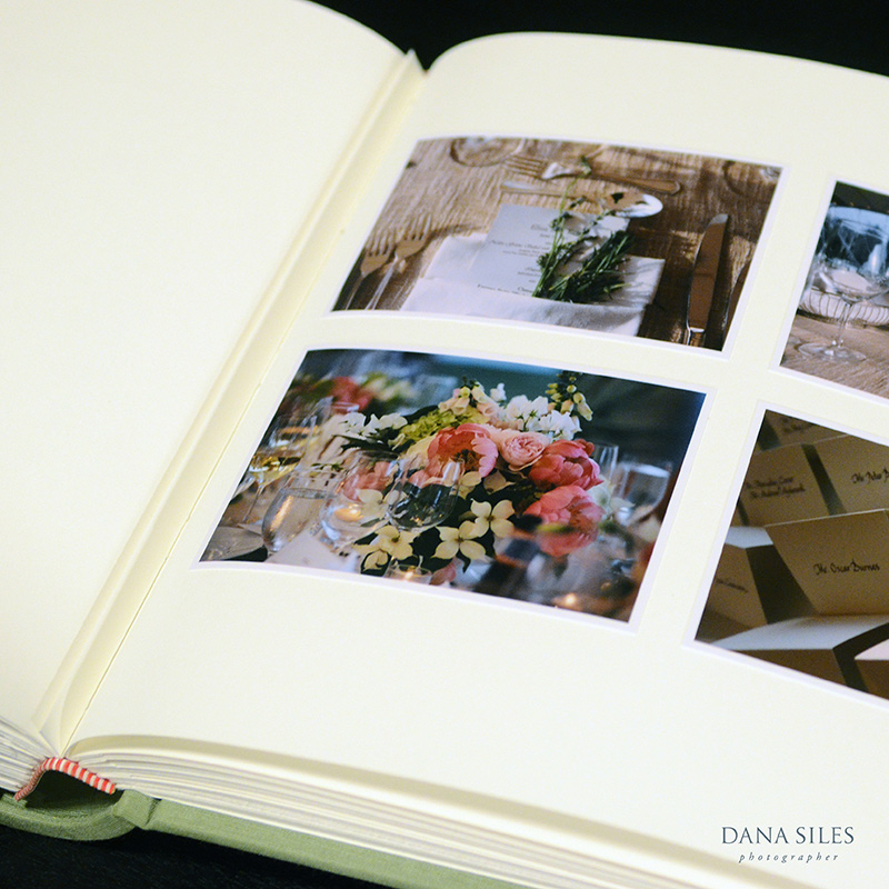 Custom Traditional page. Size 12x13. Color pearl surface prints with white border, hand-mounted onto off-white page.