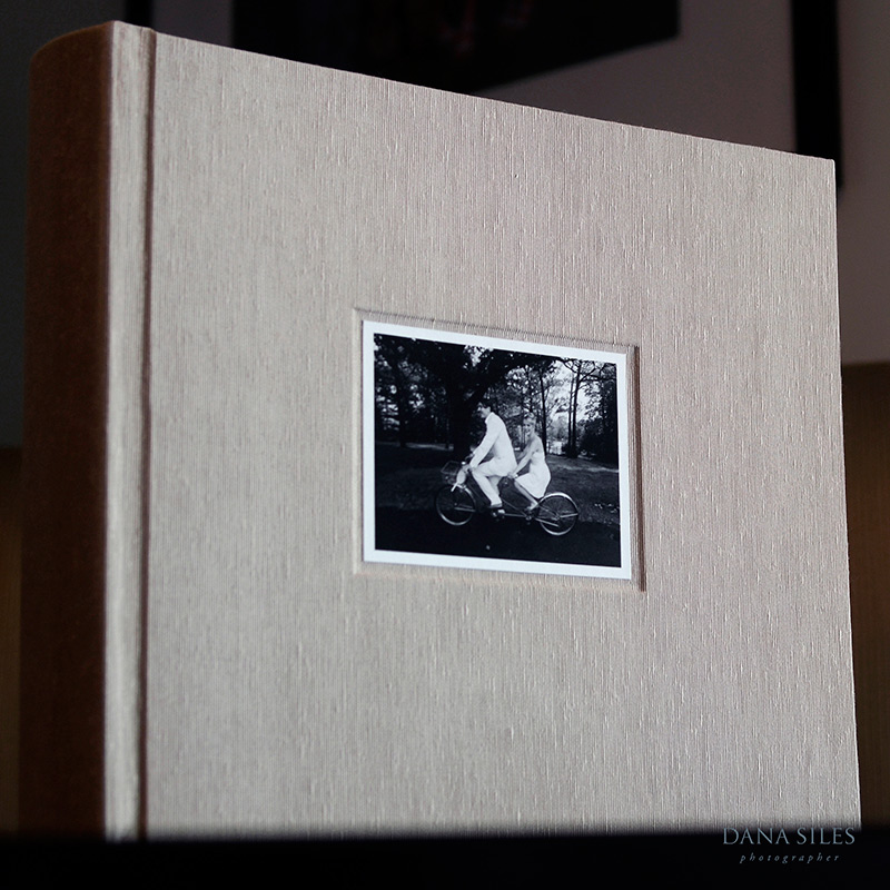 Custom Album. Pearl silk. Size 12x13. White border cover photo.