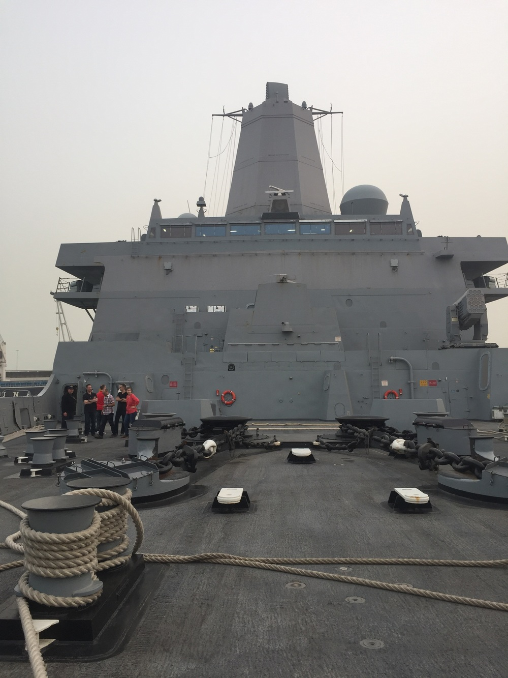 A private tour onboard the USS Arlington warship in Kuwait. We played a gig during a ceremony/reception for the 25th anniversary of the liberation of Kuwait.