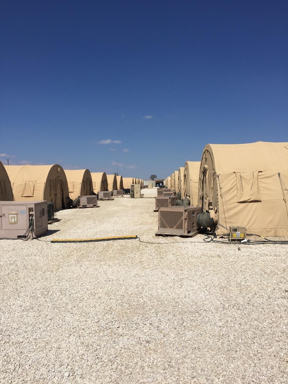 Tent City. Cozy, right?