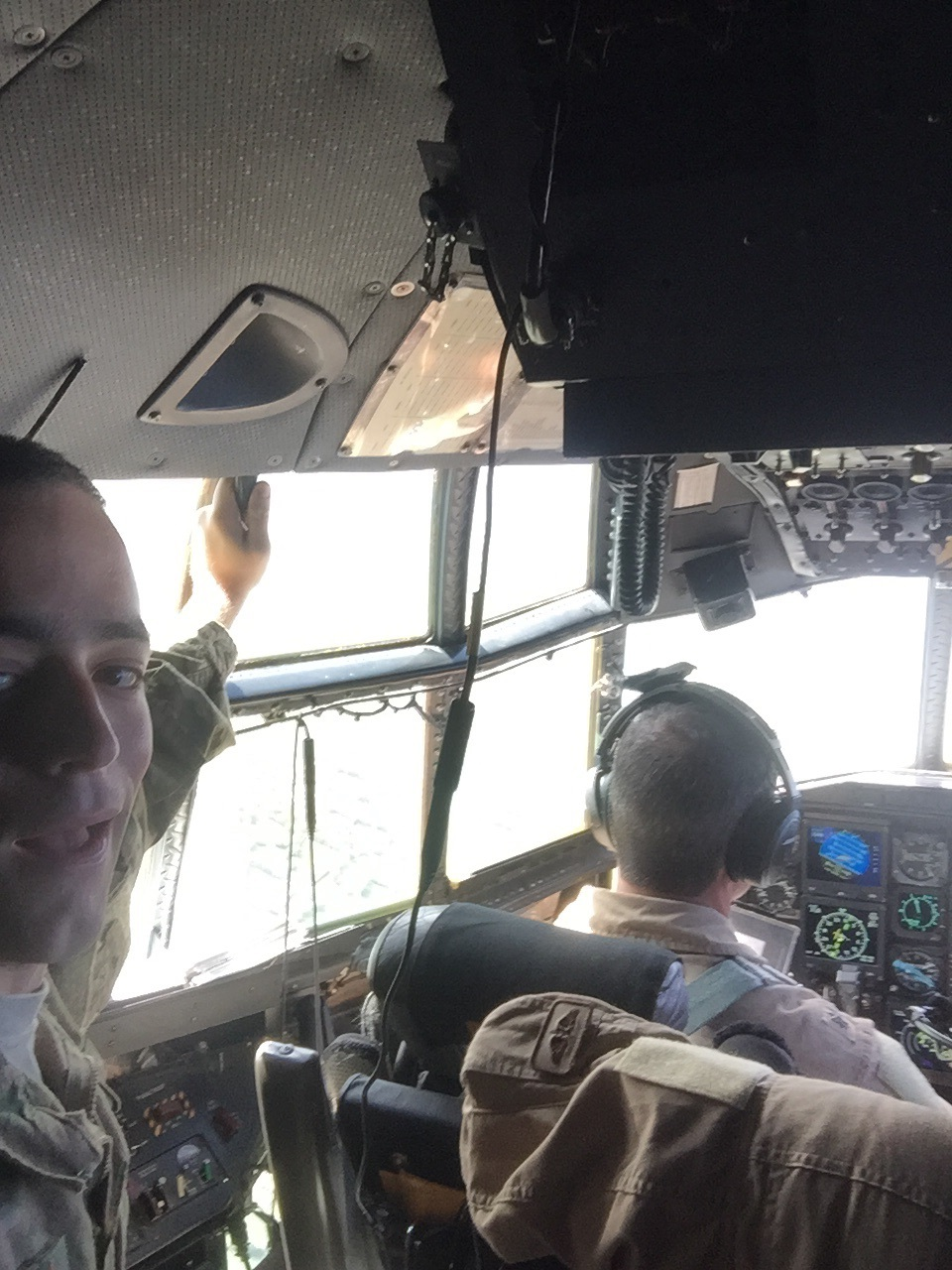 The obligatory cockpit selfie.