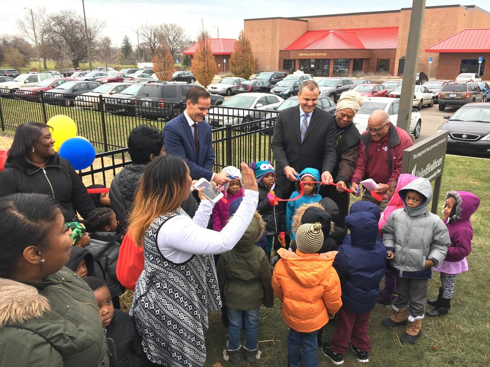 UnitedHealthCare CEO Dennis Mouras Cuts Ribbon On New Kid's Play Center at District 5 HealthPark (Samaritan Center)