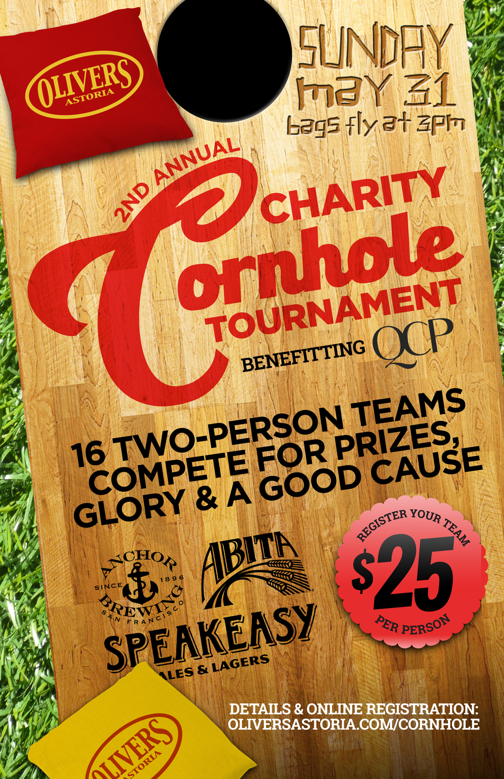 astoria charity cornhole tournament