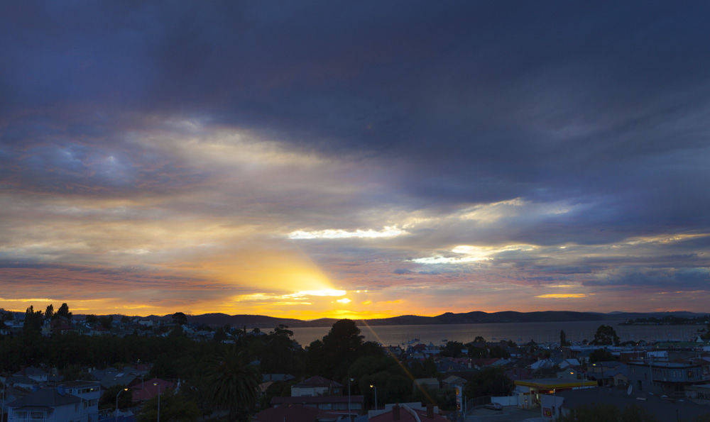 Sunrise over Hobart