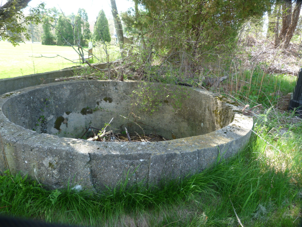 Two silo foundations just north of the barn foundation
