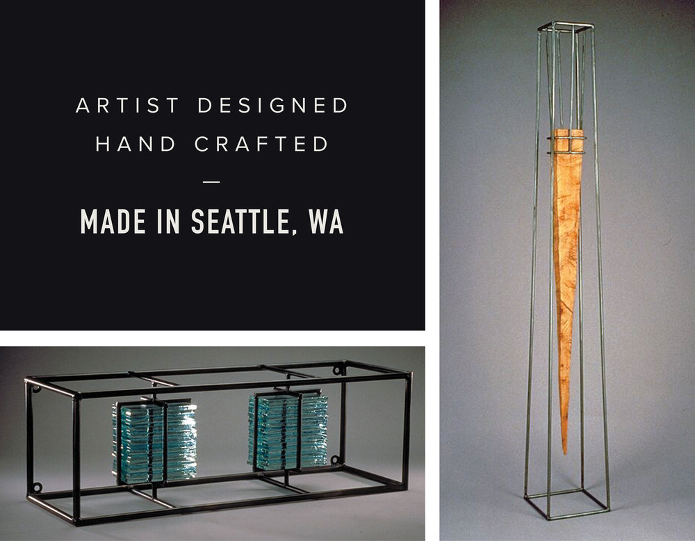 Artist Designed, Hand Crafted Made in Seattle Washington by Studio Andolina