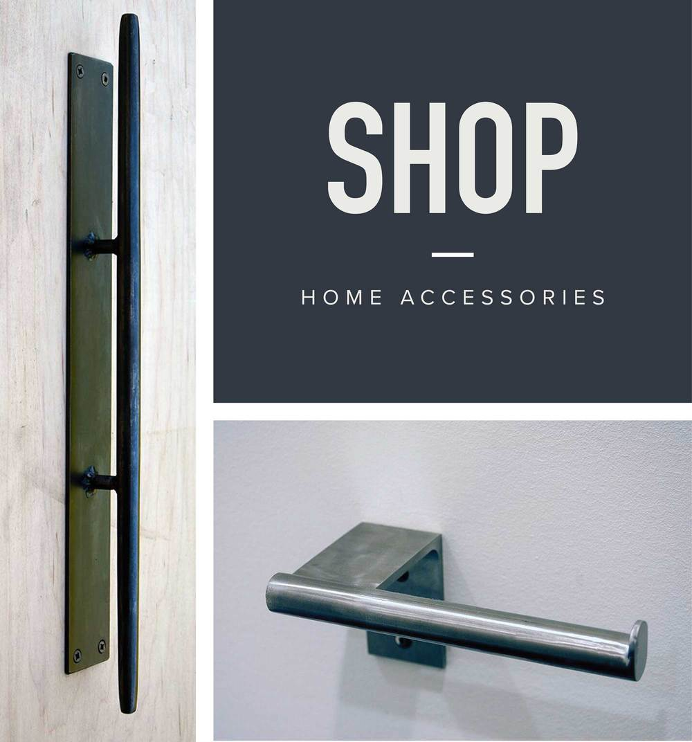 Shop Home Accessories from door handles, toilet paper holders and more. Modern and Minimal Design for Your Home - Hand Made Custom Fixtures by StudioAndolina in Seattle, WA