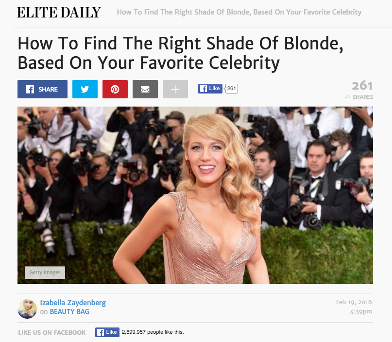 Joyce Elite Daily Right Shade Of Blonde Cutler Salon