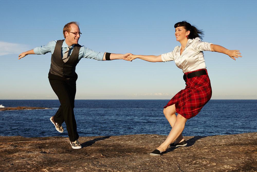 Evan Hughes & Noni Healy - Swing Dancers
