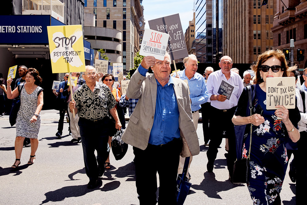 Franking Credits Inquiry Hearing Protest - Wilson Asset Management