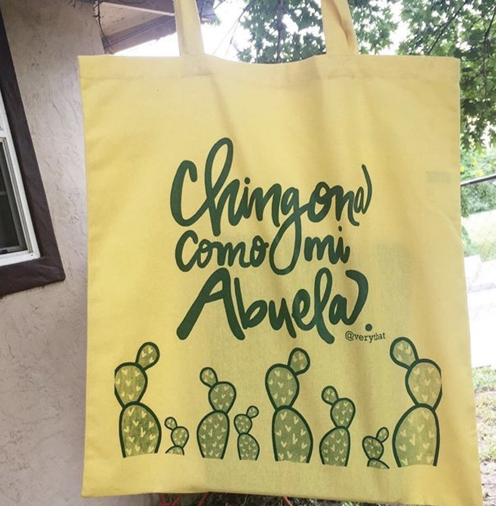 Chingona como Mi Abuela tote bag, $15 on Etsy!
