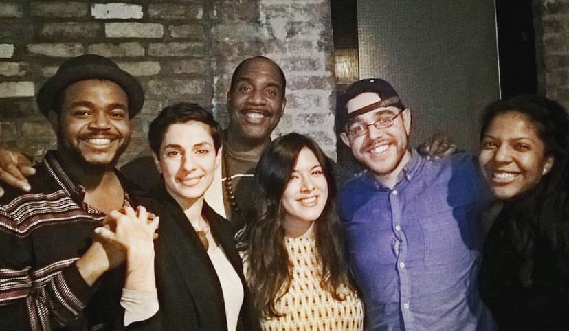 Left to right: Darrel Alejandro Holnes, Sabrina Hayeem-Ladani, Ed Toney, Cory Nakasue, José Guadalupe Olivarez and María Fernanda