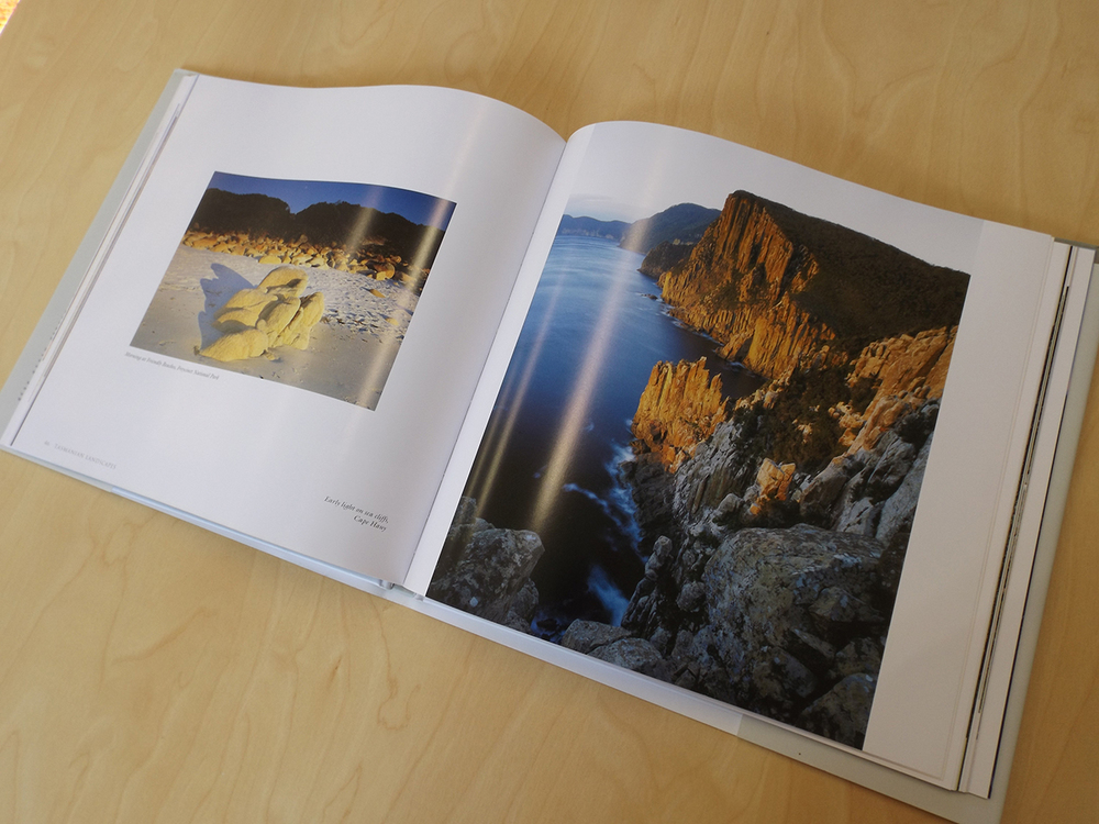 'Tasmanian Landscapes' Book design (also posters, calendars, postcards etc) – DENNIS HARDING.