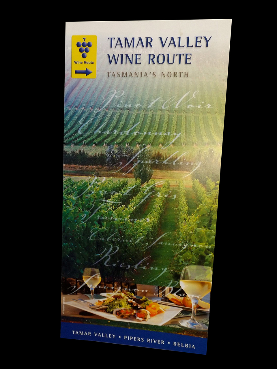 TAMAR VALLEY WINE ROUTE - Brochure and map design.