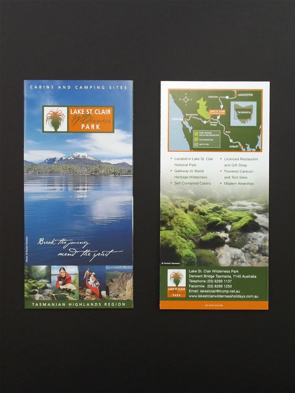 LAKE ST. CLAIR WILDERNESS PARK - Brand design, business collaterals, map illustration and brochure design.