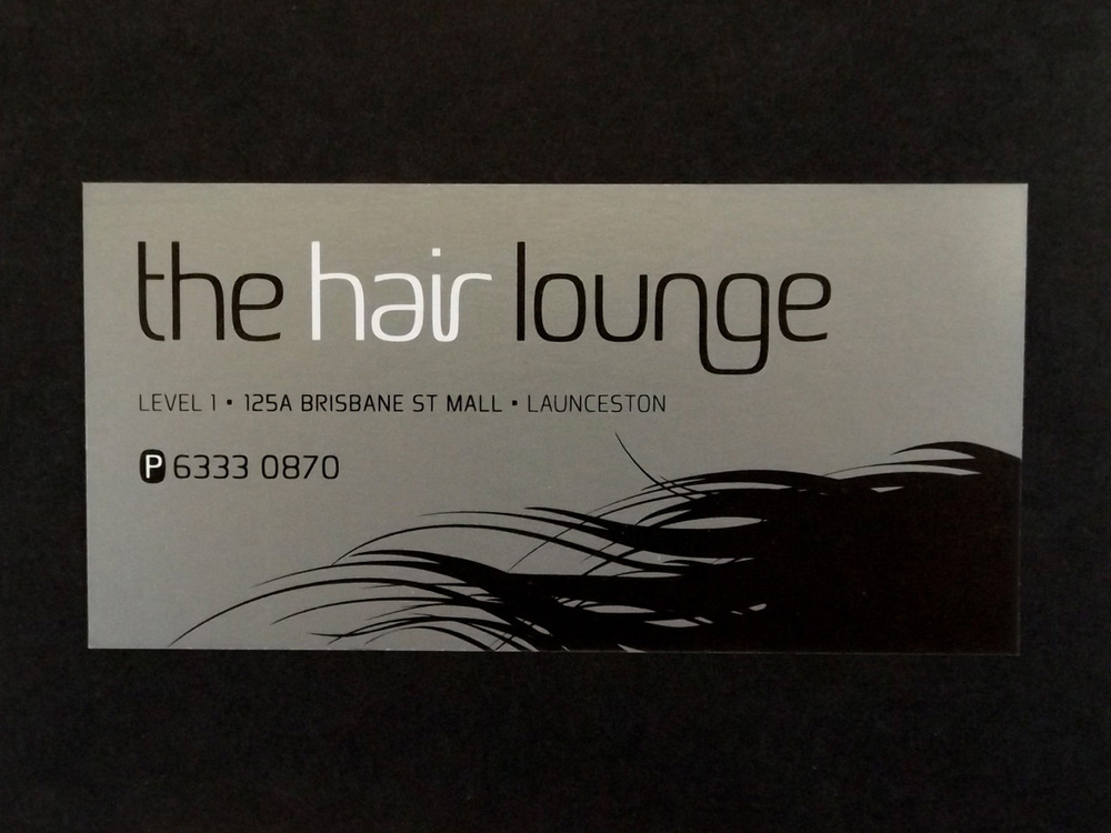 THE HAIR LOUNGE - Brand design and business card, signage etc.