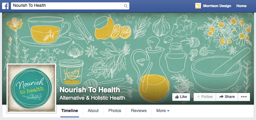 NOURISH TO HEALTH - Branding, Social Media Kit and Business Card Design.