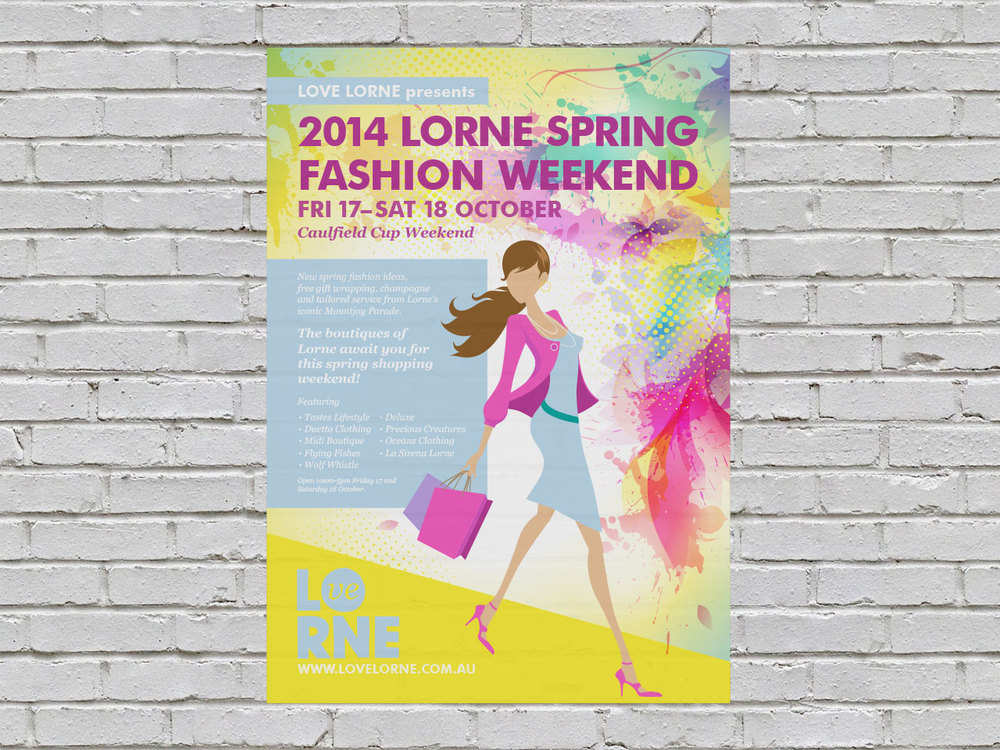LORNE TRADERS ASSOC. - Spring Fashion Weekend Poster.