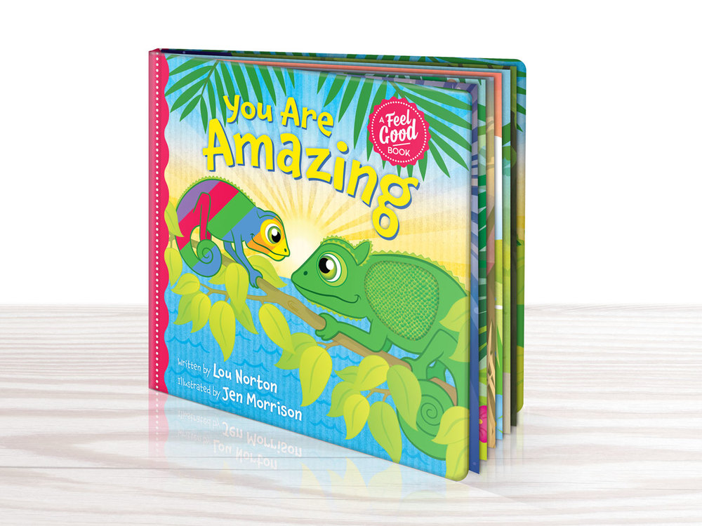 LITTLE BIG WREN - You Are Amazing, touch and feel baby board book. Page illustrations, typography and cover design.