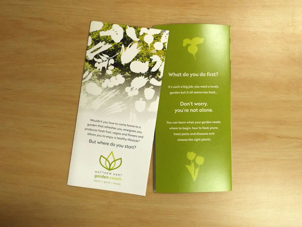 MATTHEW HART GARDEN COACH - Eco Brochure Design and Printing Geelong