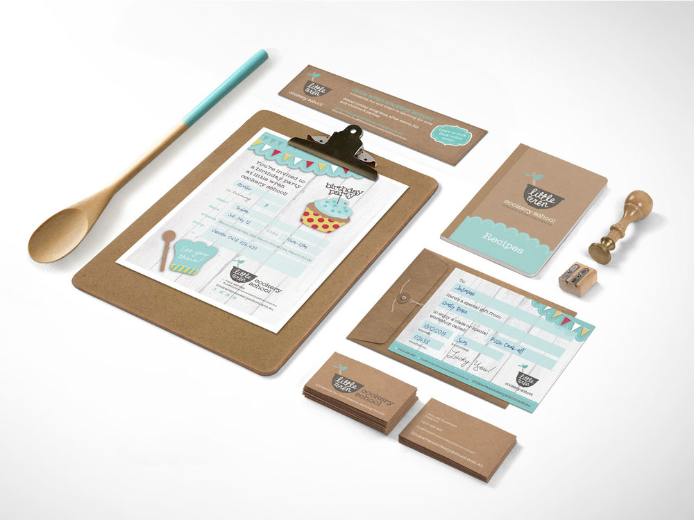 LITTLE WREN COOKERY SCHOOL - Brand Identity, Visual System and Collaterals.