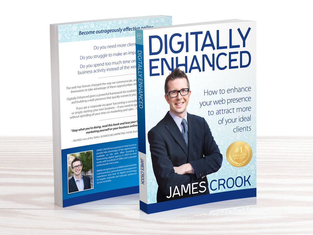 JAMES CROOK - Digitally Enhanced Book Design Morrison Design, Graphic Design and Branding Agency Geelong, Melbourne, VIC.