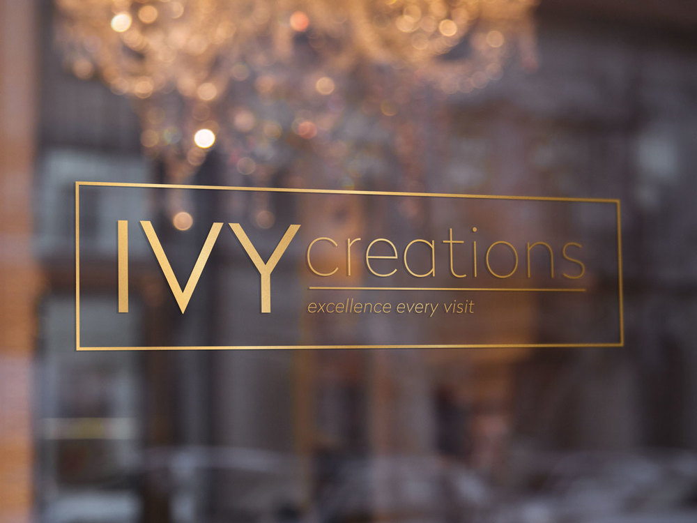 IVY CREATIONS - Queenscliff Wharf Hair Salon branding, collaterals, marketing materials and signage.  Morrison Design Geelong.