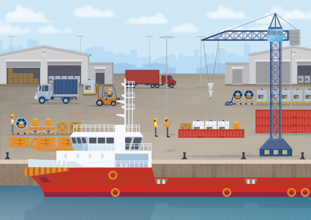 AMSC - Wharf Illustration