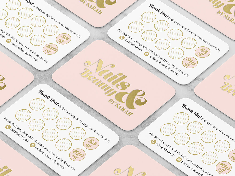 NAILS & BEAUTY - Salon Loyalty Card Design