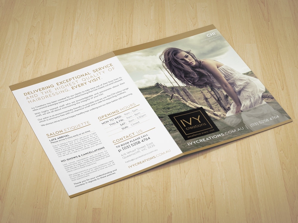 IVY CREATIONS - Branding and Brochure Design