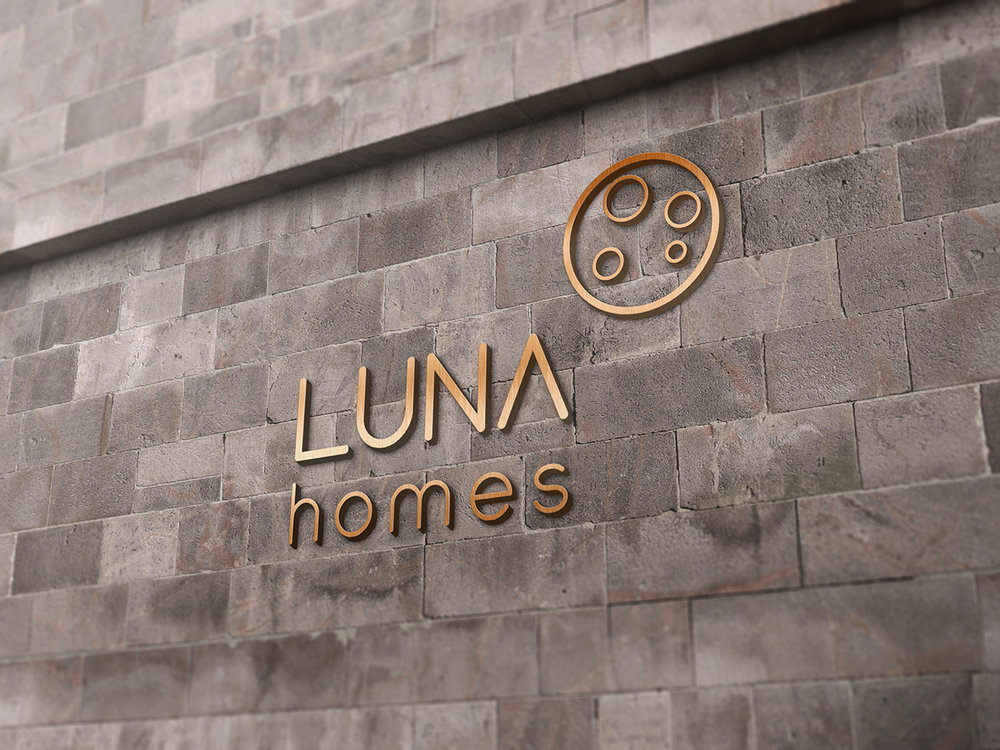 LUNA HOMES - Brand Identity (Logo) Design