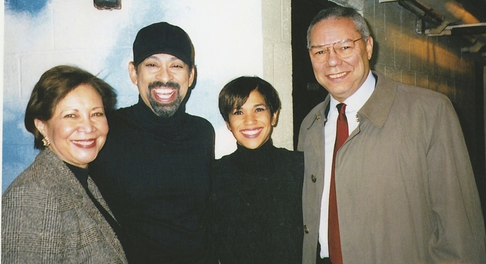 Backstage at Guys and Dolls with Gen. Colin Powell and wife Alma Powell and Maurice Hines