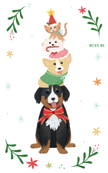 Greeting cards neiko art christmas card american greetings m4hsunfo