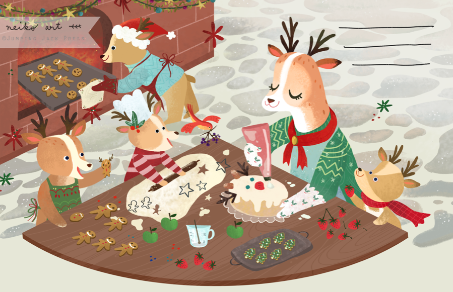 inside pages of Woodland Christmas
