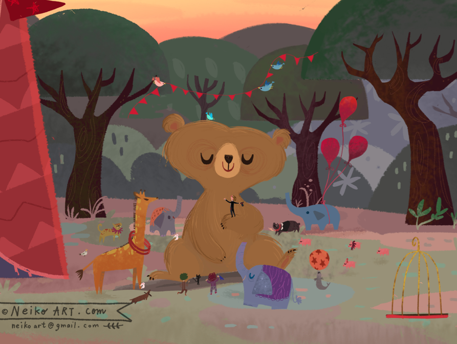 Circus Bear -WBB