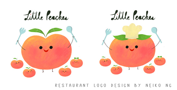 Logo Design for a restaurant called Little Peaches.