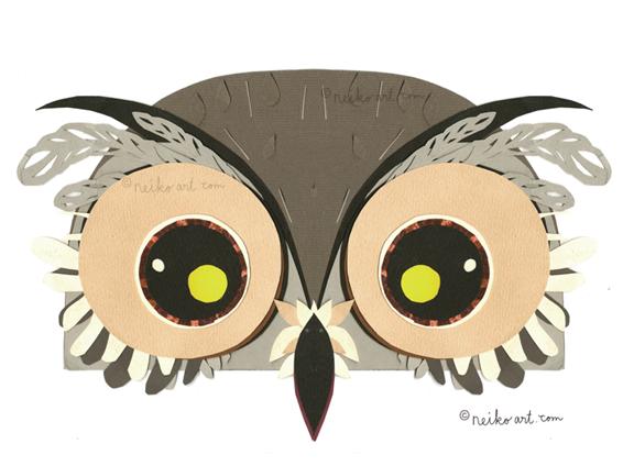 live size owl mask