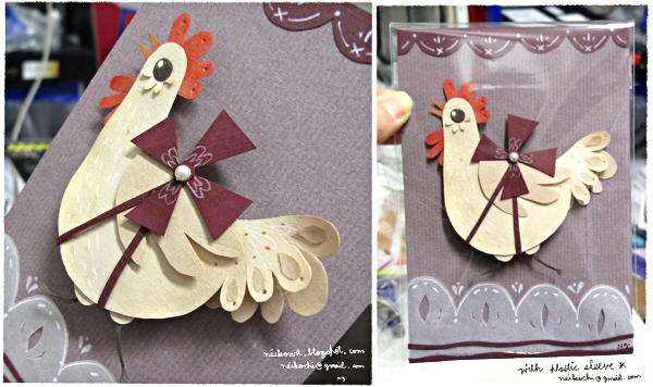 chicken papercut