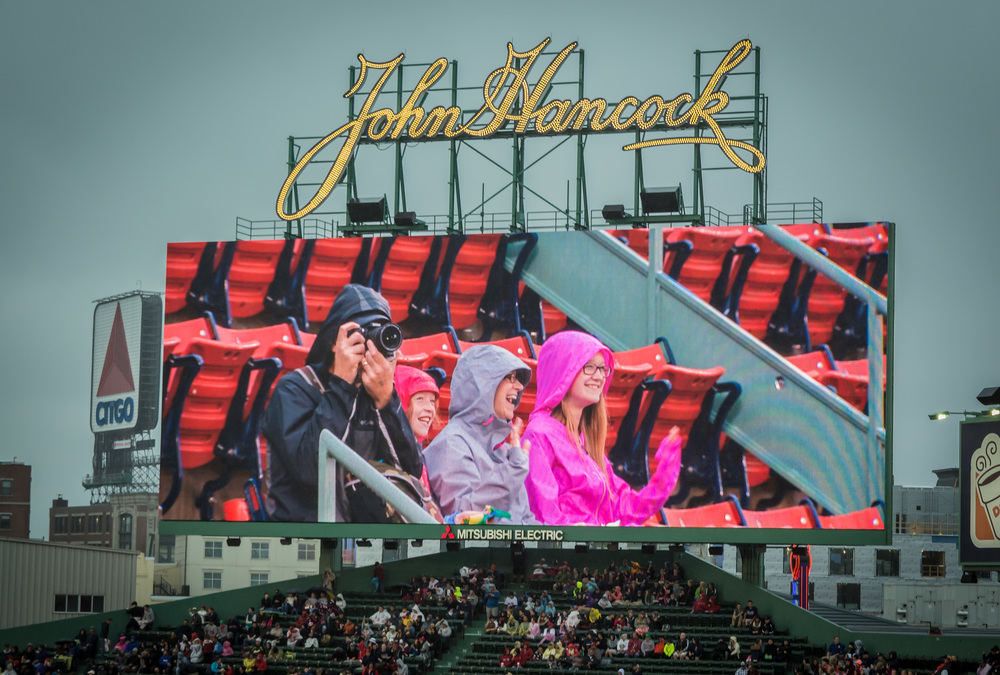 Fenway Jumbotron.  I made it in a picture!
