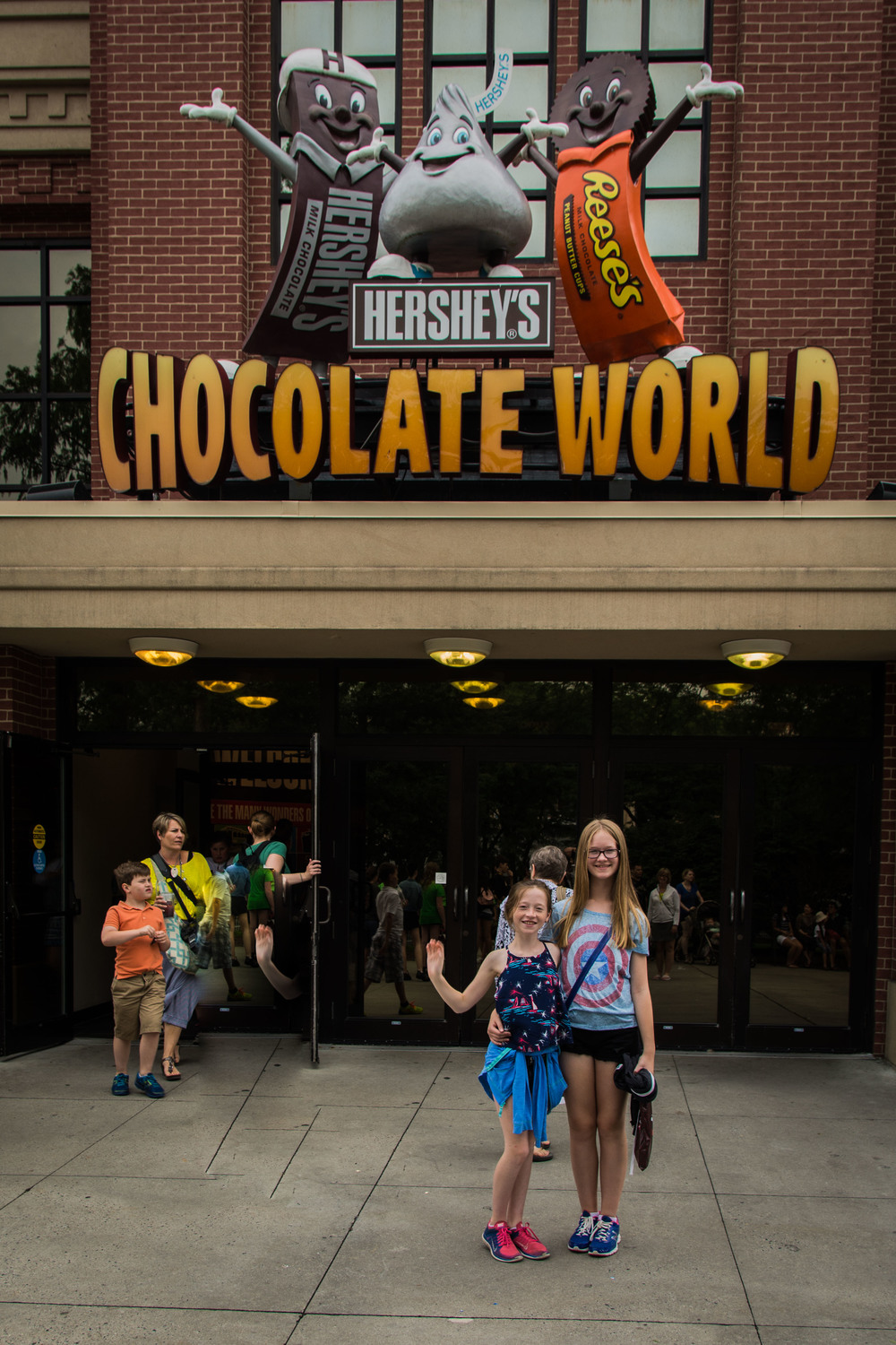 Hershey PA. Ignore the disembodied arm from the photo-bombing kid I tried to Photoshop out.