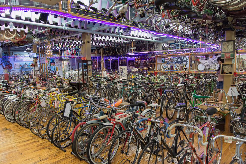 Bicycle Heaven.  Room after room after room of bikes.