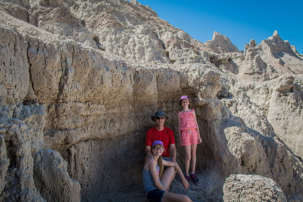 Taking a break in the shade, Badlands NP.