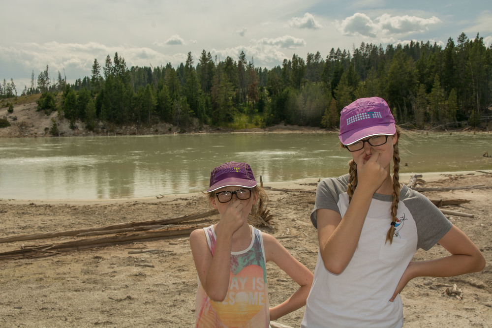 Did you know that many geothermal features smell bad and my daughters might complain about it?