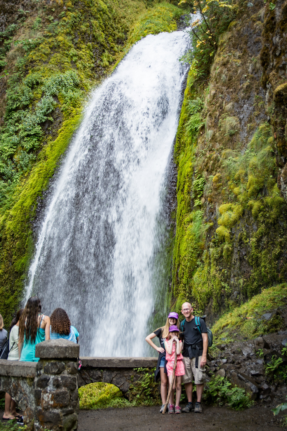 Me and the girls, Bridal Veil Falls, Columbia River Gorge, OR.