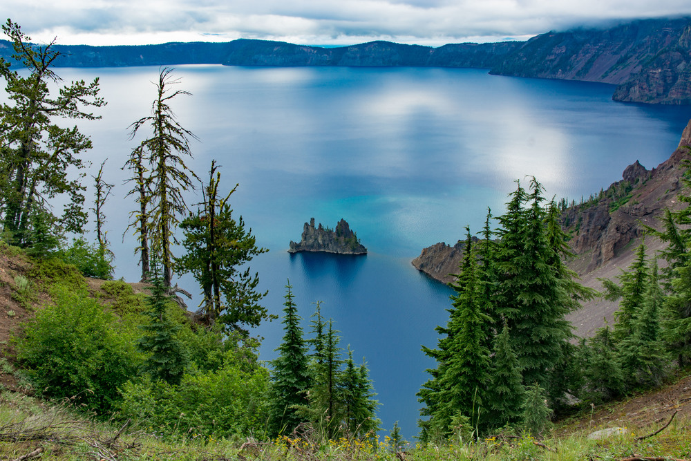 Phantom Ship Overlook, Crater Lake N.P.  Yes, it's really that blue.