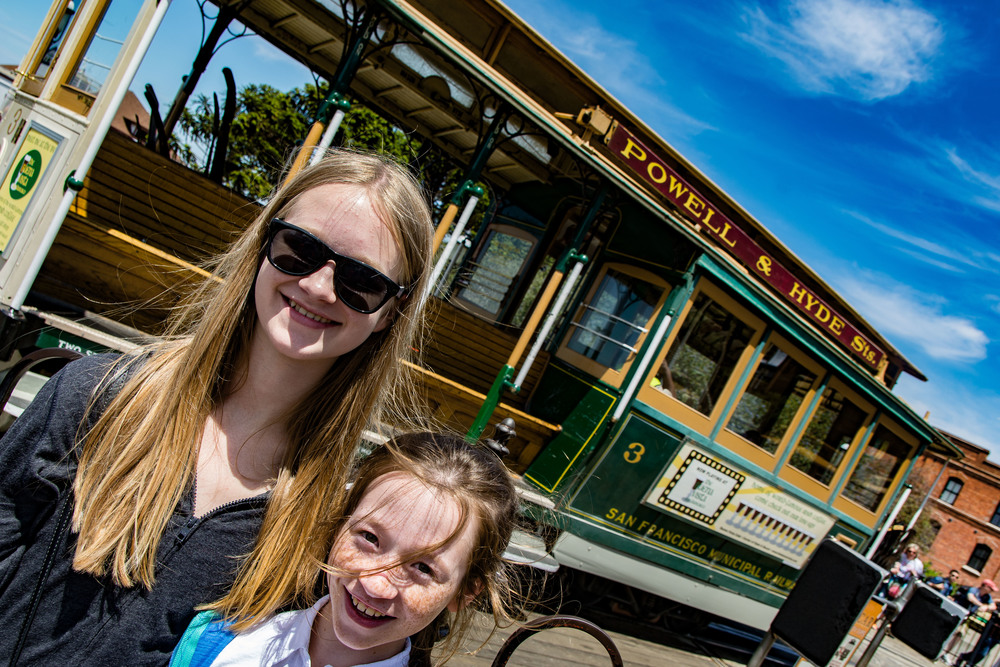 It's a long wait for a cable car on a sunny summer weekend, but worth it!