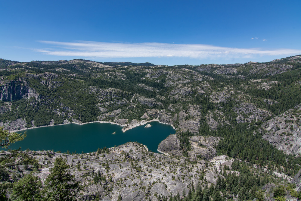 Donnell Lake from Donell Vista, Stanilaus National Forest, California.