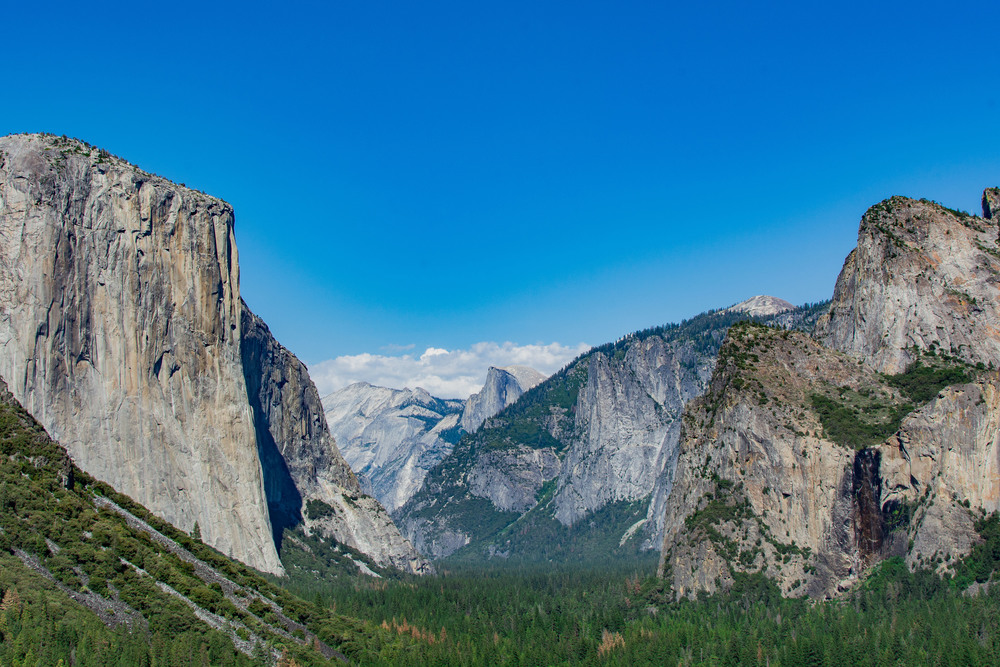 Yosemite Valley from Tunnel View.  This is shooting fish in a photographic barrel.